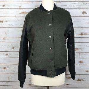 NWOT American Eagle Green Black Bomber Jacket